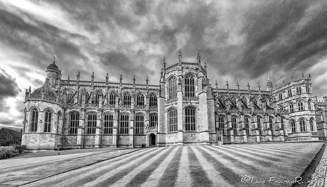 Windsor castle St George's Chapel B&W
