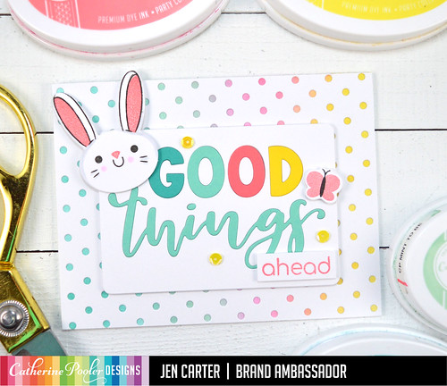 Jen Carter Good Things Ahead Card Set Bunny Butterfly