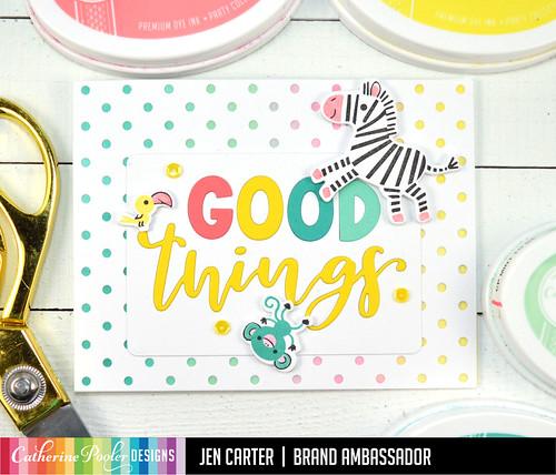 Jen Carter Good Things Ahead Card Set Zebra Bird Monkey Upside Down