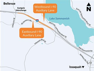 I-90 Eastgate-SR900 Project Map-510 - Auxiliary lanes only | by WSDOT