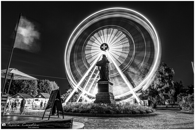 Spinning - Geneva Big Wheel 2019 - NZ6_2308 b&w
