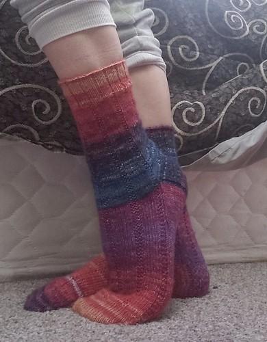 Socks knit by Lani (zanderlidy) in May!