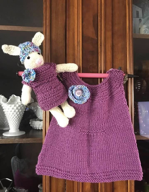 Angela also knit this sweet set!