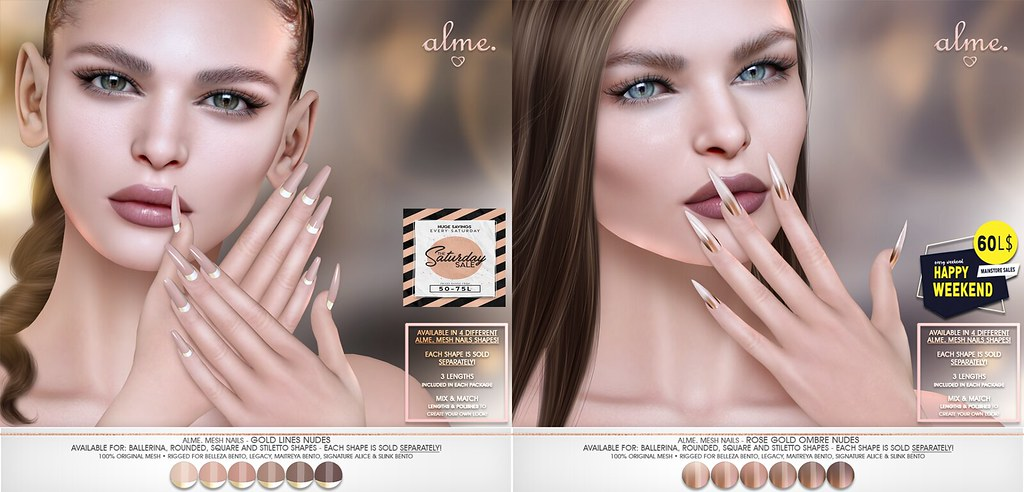 Alme. in Second Life for The Saturday Sale Official – SL & 60L$ Happy Weekend Sale July 11-12th