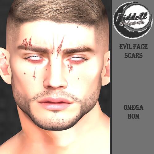Riddell Evil Face Scars (GROUP GIFT)