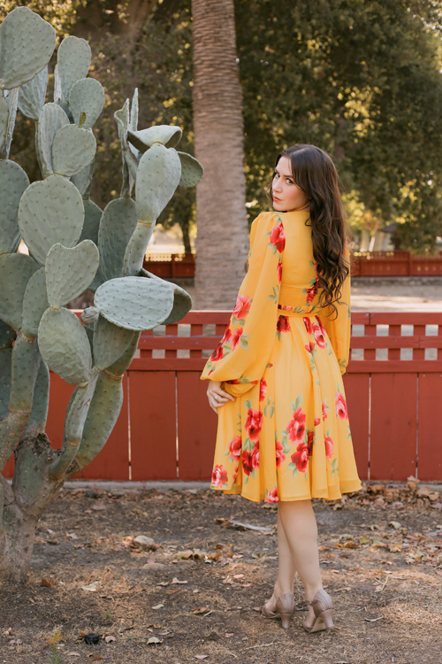 Vintage Vandalizm Zelda Dress in Yellow Floral