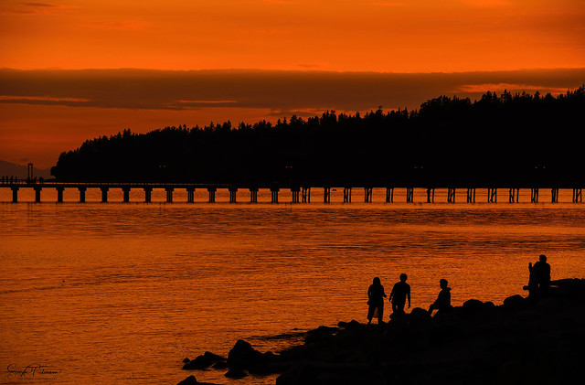 White Rock Sunset & Silhouettes