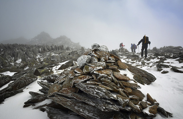 A cairn on the the Glyders