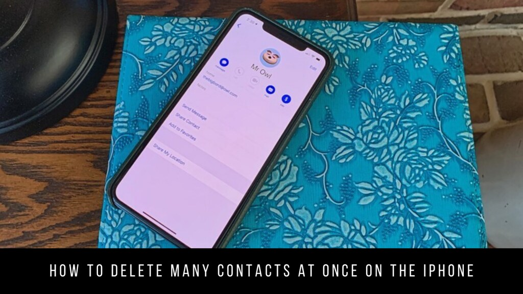 How to delete many contacts at once on the iPhone