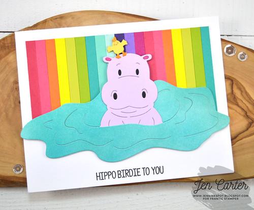 FRA-DIE-10866-CL-157 Hippo Birthday Jen Carter