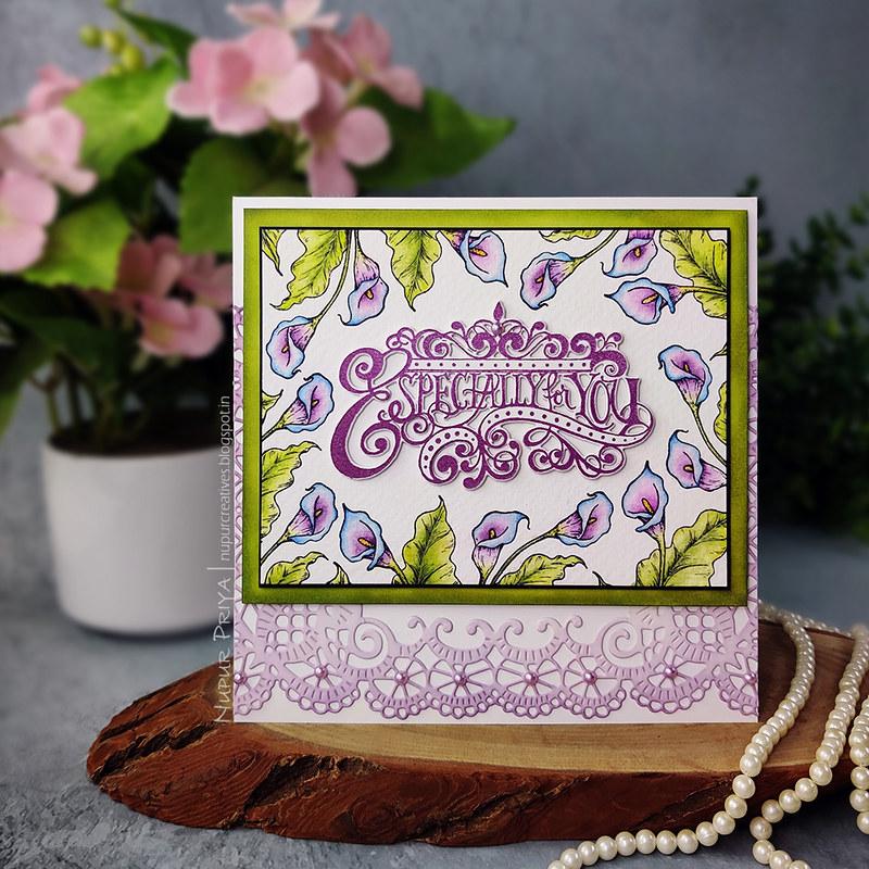 Calla Lily Especially For You Card_Nupur Priya_01