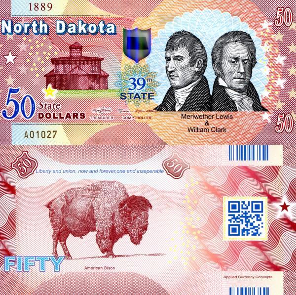 USA 50 Dollars 2015 39. štát - S. Dakota polymer