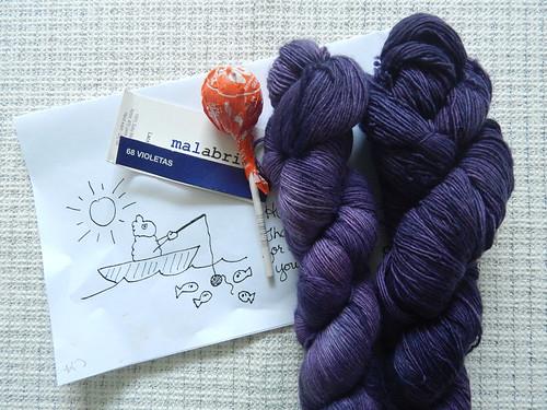 Malabrigo Lace, colorway Violetas