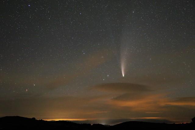 Comet NEOWISE from Dartmoor