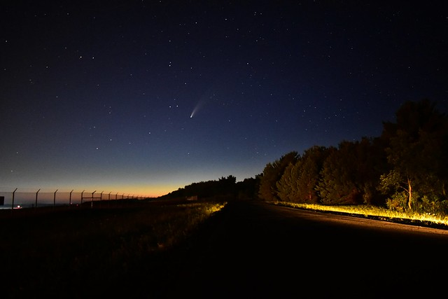 NEOWISE Comet over Griffiss International Airport