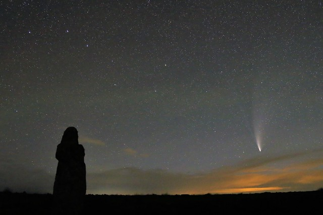 Comet NEOWISE as seen from Bennett's Cross