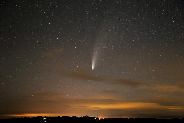 Comet NEOWISE near Longdown