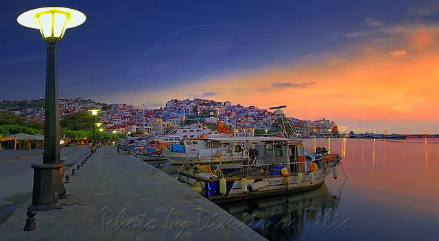 Daybreak at Hora's Skopelos port