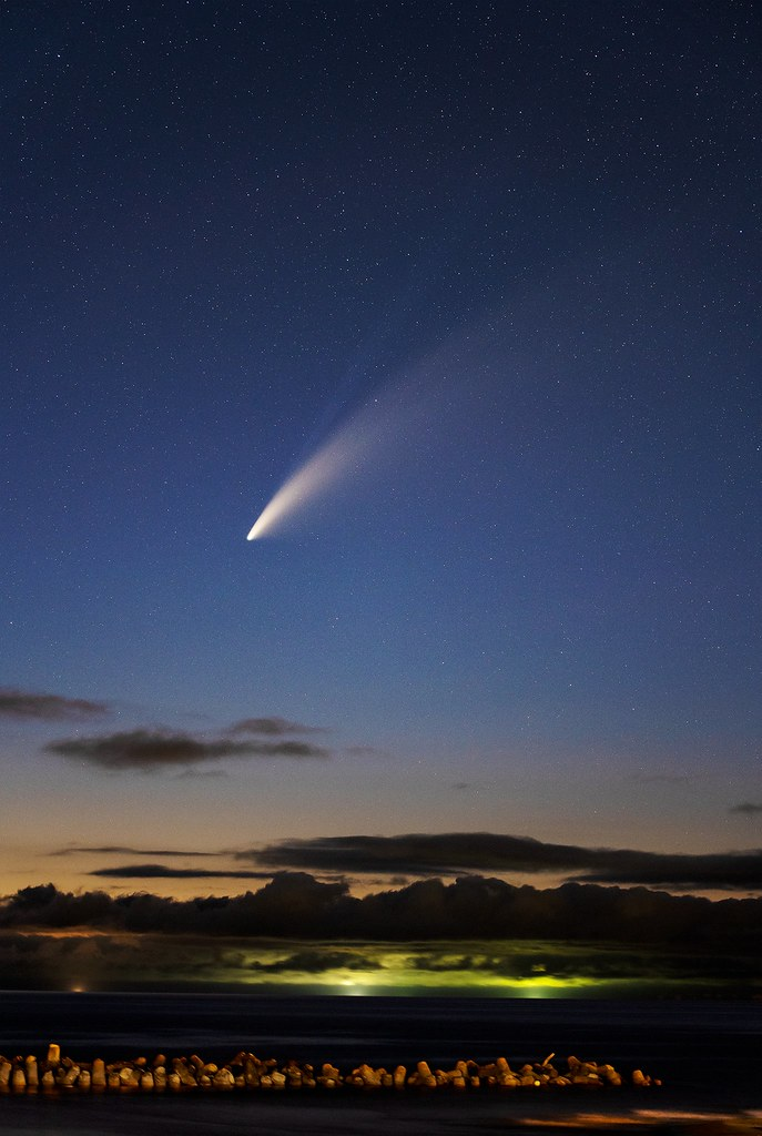 Comet NEOWISE on the west coast of Japan