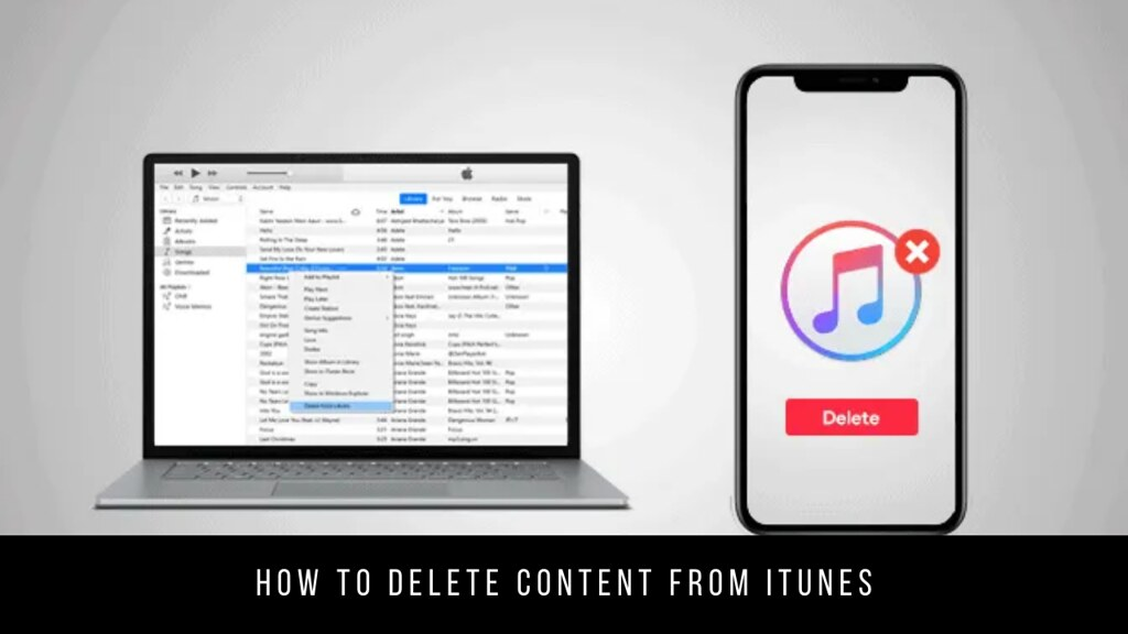 How to delete content from iTunes