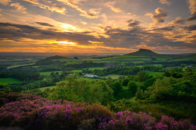 Sunset over Roseberry Topping, North Yorkshire