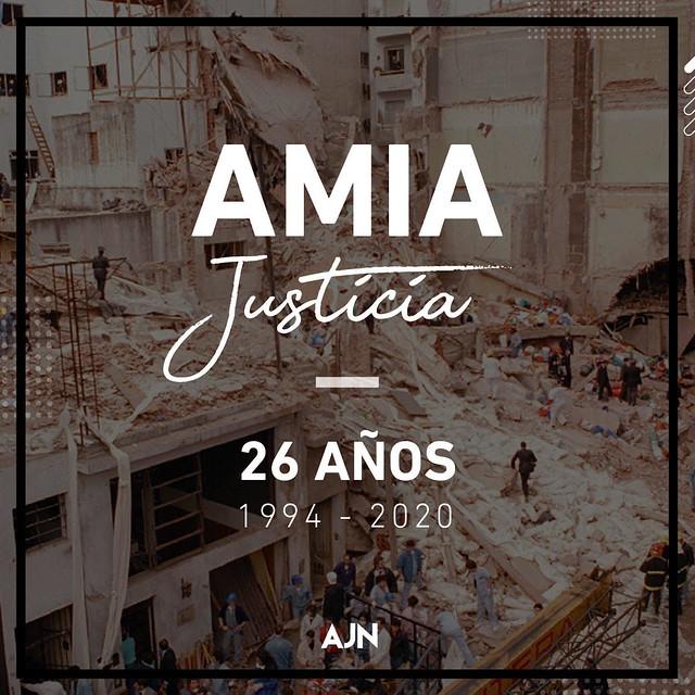 AMIA - 26 años atentado a la AMIA - No olvidar -