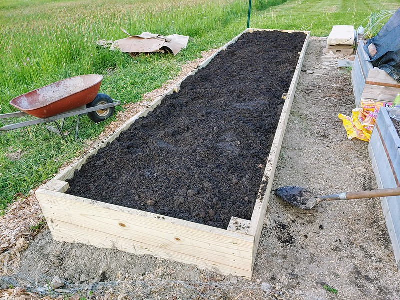 L14: Top layer of raised bed garden soil