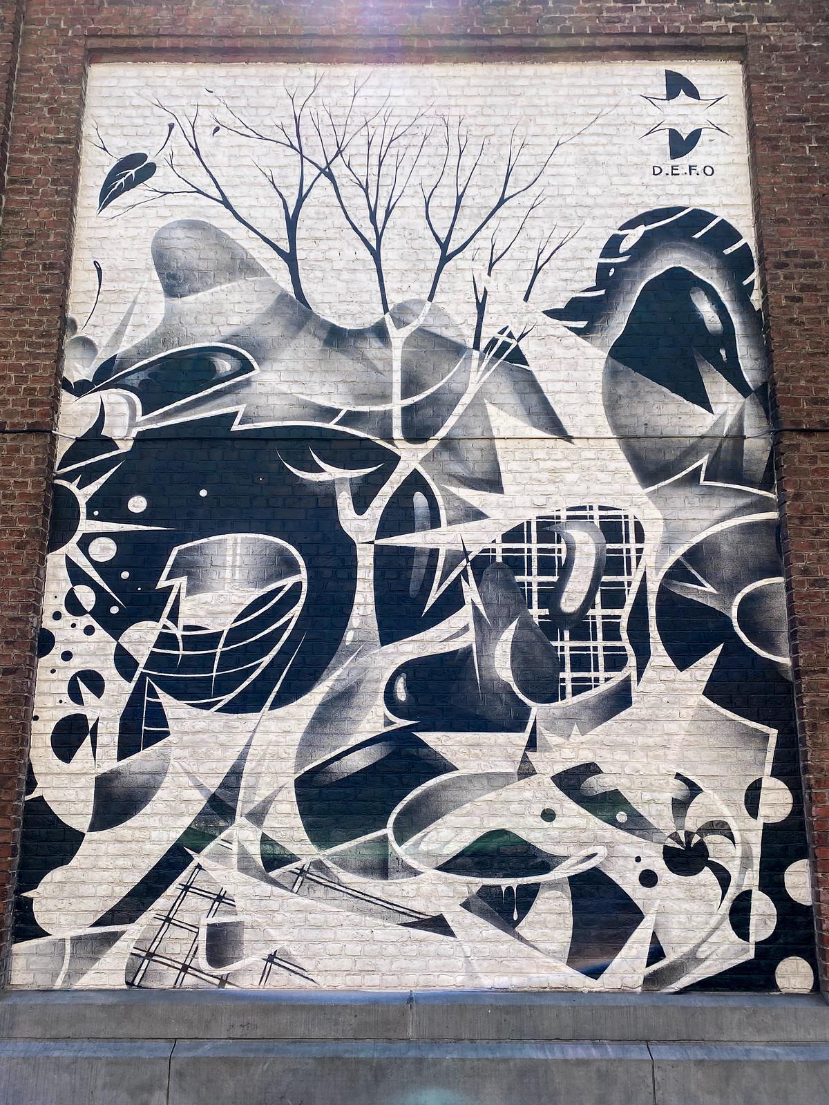 Street art mural by defomanone