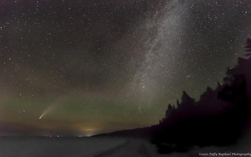nightsky comet beaverisland bonnerslanding neowisecomet