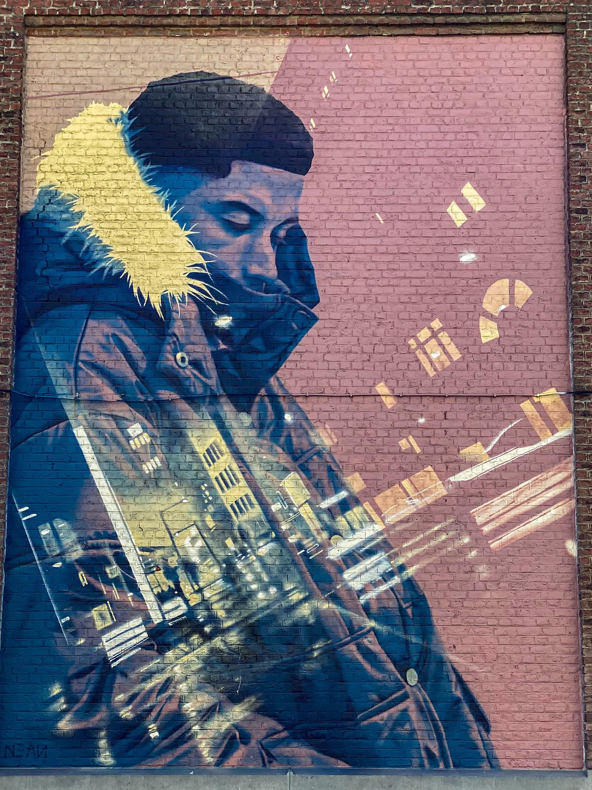 Street grafiti mural b unkown artist