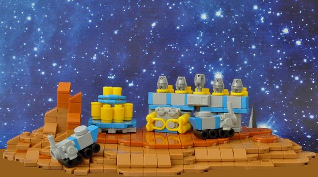 Mars Ice refining Colony