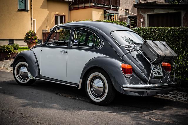 a wonderful classic VW Beetle - rear view