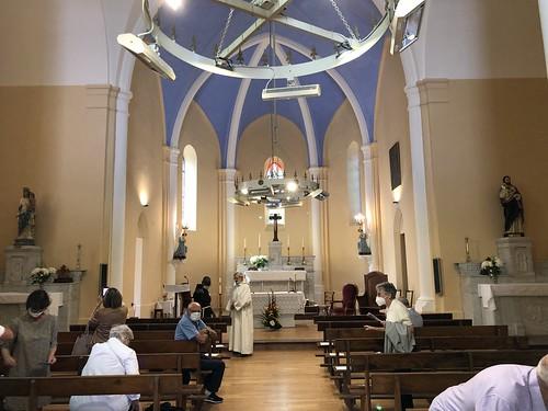 20200718 Manteyer Bénédiction travaux intérieurs église