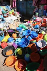 Plastic pots & dishes - Kidame Gebya - Open Air Market - Gondar Amhara Ethiopia