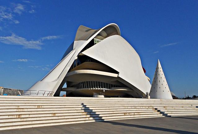 Palau de les Arts desde la escalinata - València