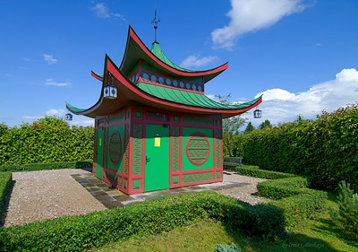 """Small house"" in Rundāle garden"