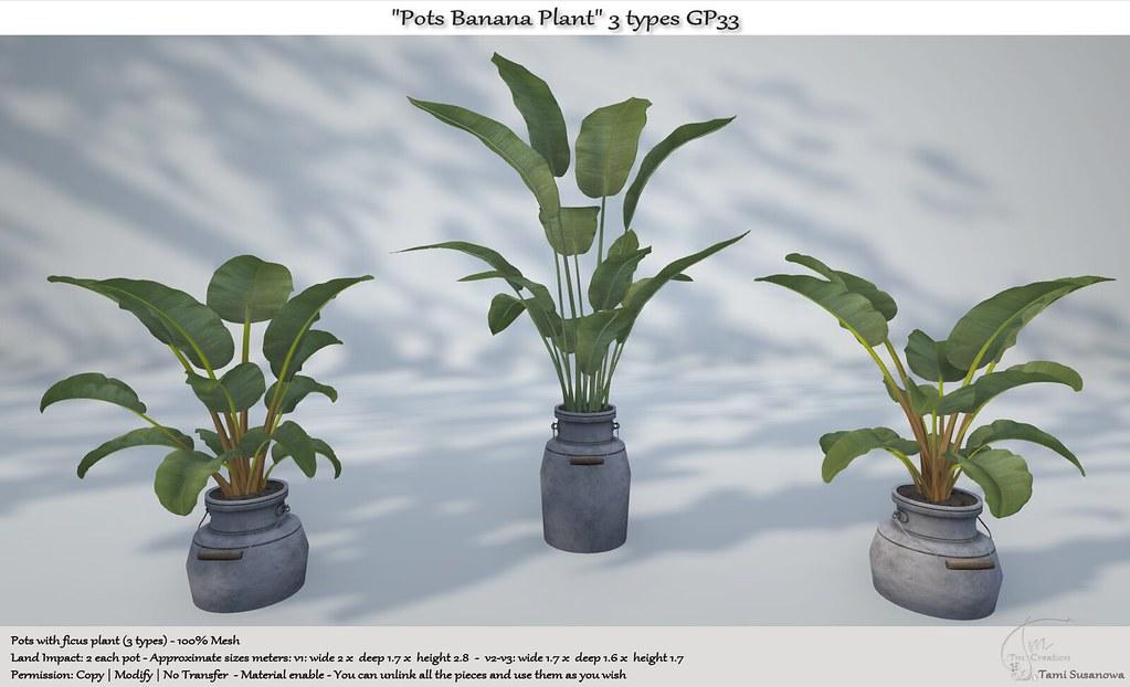 ".:Tm:.Creation ""Pots Banana Plant"" 3 types GP33"