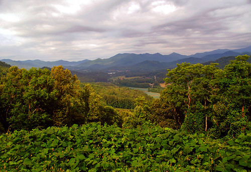 north carolina scenic overlook mountains scenery landscape