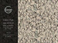 Cash Pile Backdrop @ Main-store Release