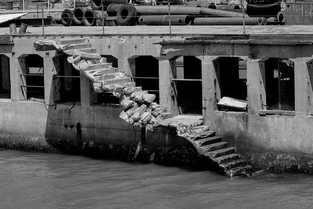 WW2 ship making berth, Kaiser Shipyard No. 3, Richmond, California