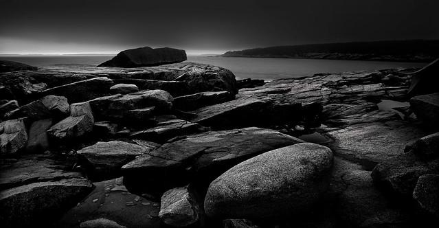 Black Rock and Coastline...Maine on a NuVue