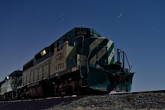 night train. plaster city, ca. 2014.