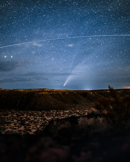 NEOWISE and the Internatoinal Space Station over Kilbourne Hole | by uchida.micah.a