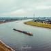 Düsseldorf Rhein from above