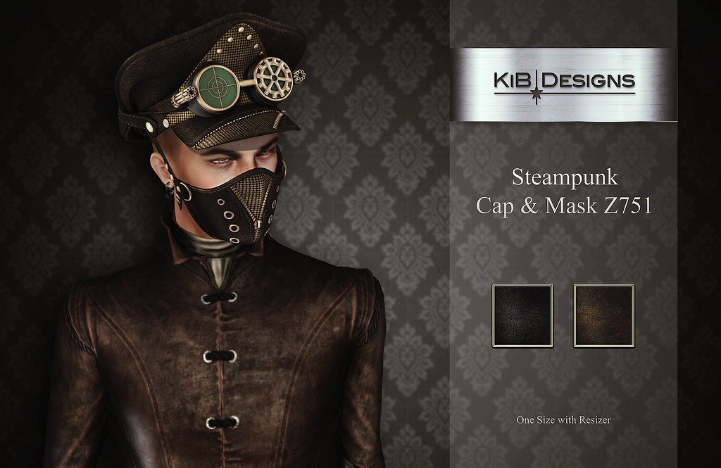 KiB Designs – Steampunk Cap & Mask Z751 @Aenigma Event