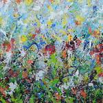 Evanescenze Smalto su stoffa di tela 120x180cm 2020