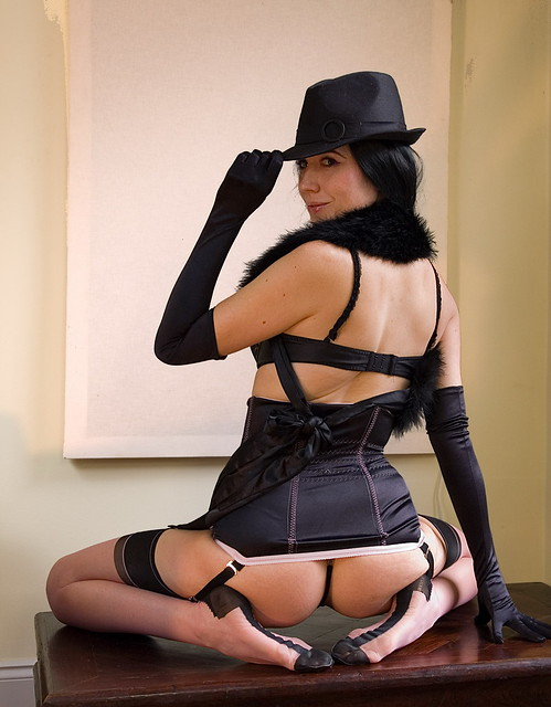Solitaire, Black Hat and Stockings
