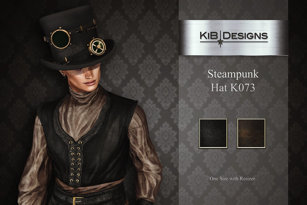 KiB Designs – Steampunk Hat K073 @Aenigma Event