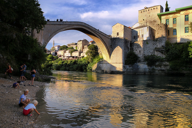 Afternoon delight under the Stari Most bridge
