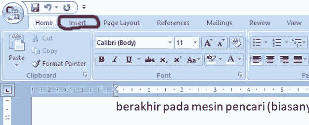 tombol-insert-di-toolbar-word
